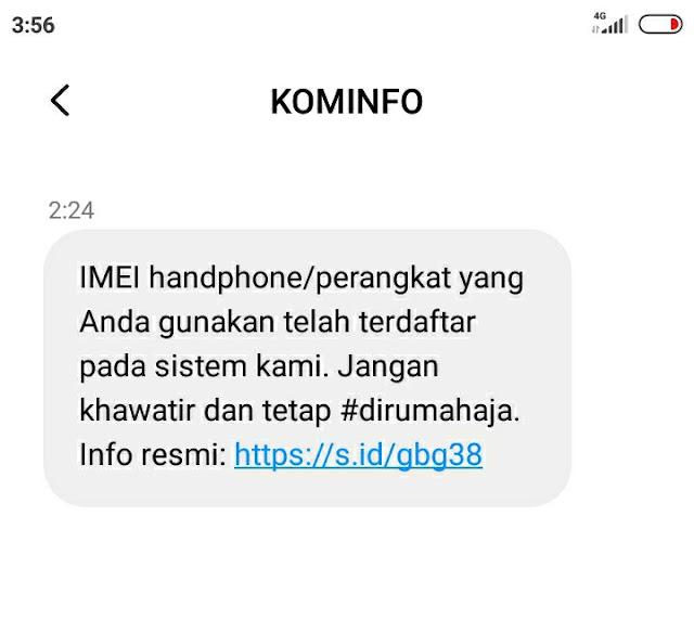 SMS KOMINFO