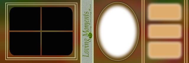Wedding Album Feather Template 12x36 - 5