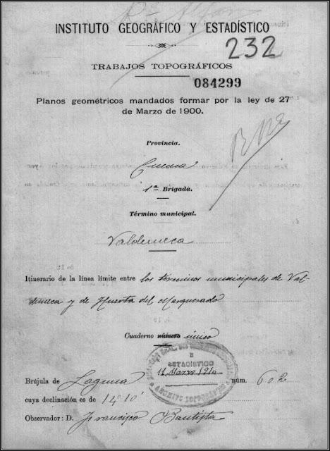 Ejemplo de cuaderno conservado en el Instituto Geográfico Nacional