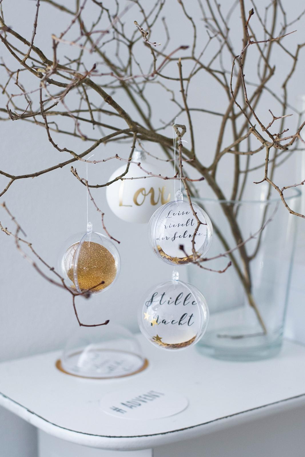 Weihnachtskugel Poesie #sinnenrauschAdventskalender #diy