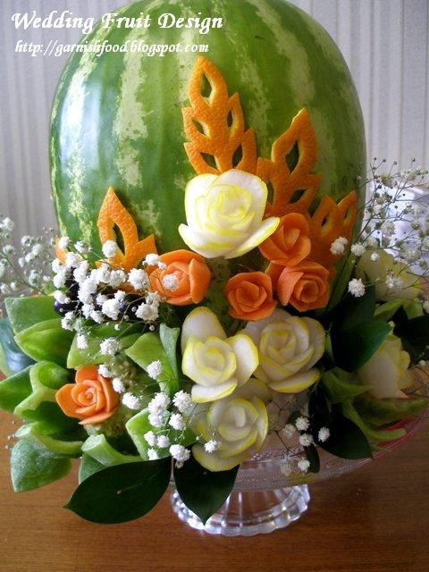 flowers of vegetable watermelon carving