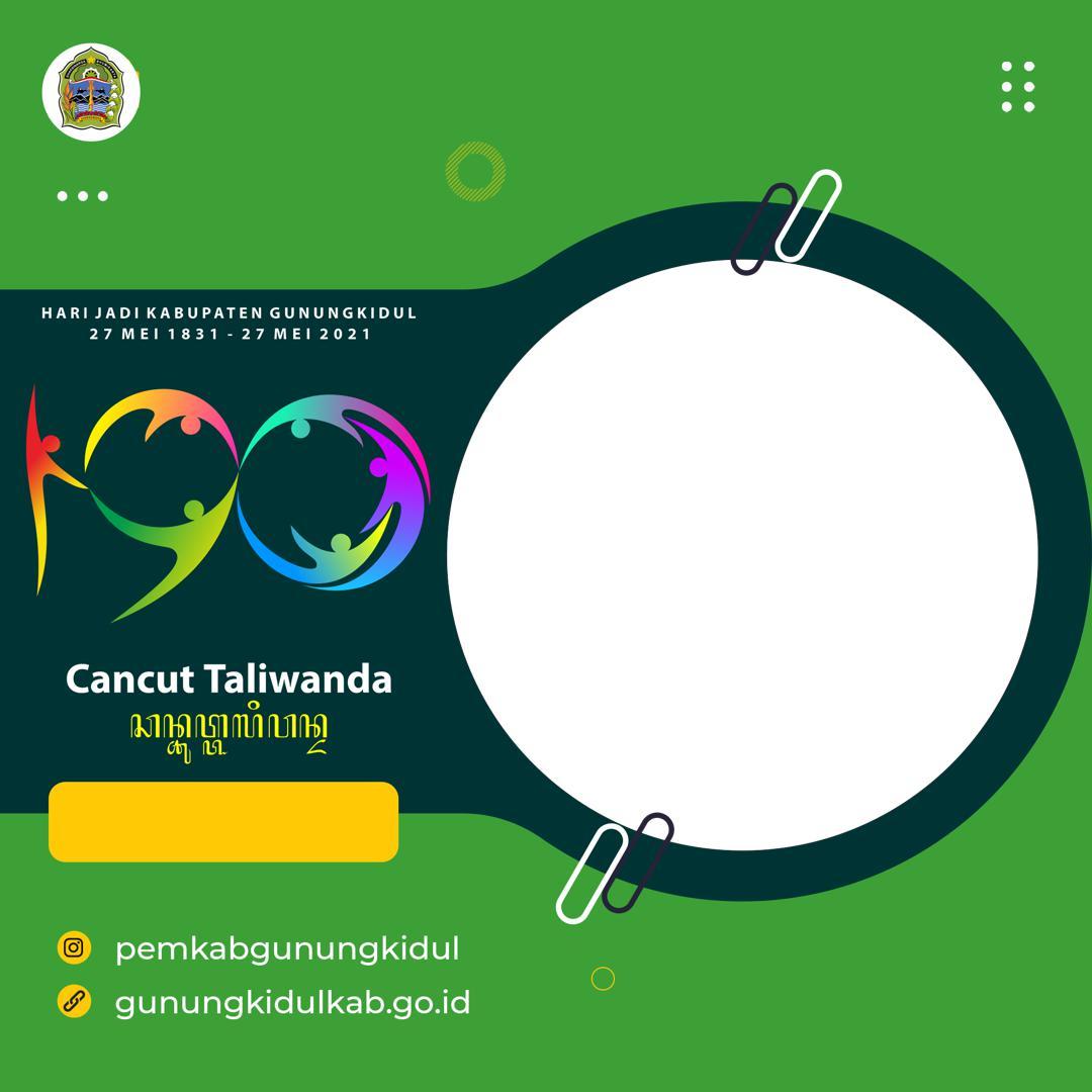 Link Download Twibbon HUT Kabupaten Gunungkidul ke-190 tahun 2021