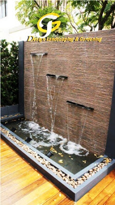 Jasa taman surabaya waterwall