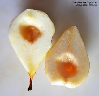recette poires pochees