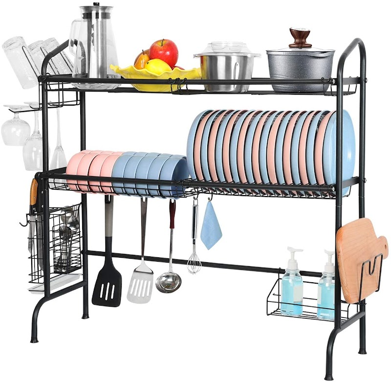 30%OFF 2 Tier Stainless Steel Large Over Sink Dish Drying Rack