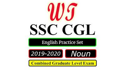 SSC CGL 2020 English Noun Practice Set Free PDF Download