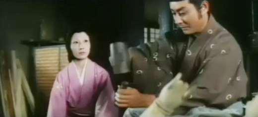 Shiho Fujimara and Ikiri Ishihama in The Snow Woman (1968)
