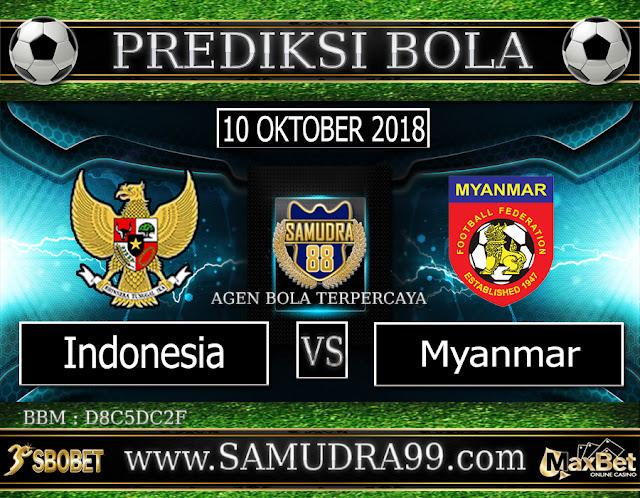 PREDIKSI TEBAK SKOR JITU INDONESIA VS MYANMAR 10 OKTOBER 2018