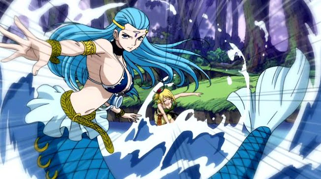 Karakter Anime Pengguna Kekuatan Elemen Air Terkuat Aquarius ( Fairy Tail )