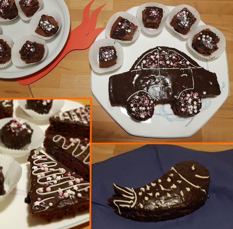 Schokoladenkuchen für unterschiedliche Ereignisse