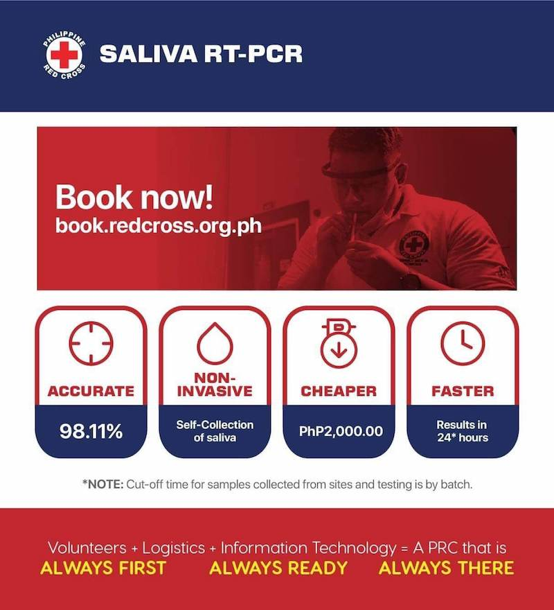 FAQs about Philippine Red Cross Saliva RT-PCR test