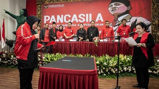 Di Rakernas PDIP, Risma Bicara Tentang Pilgub DKI Jakarta