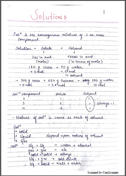 Chemistry Chapterwise Notes (Solution) : For JEE and NEET Exam PDF Book