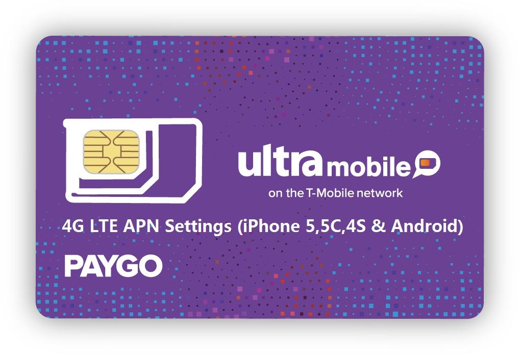Ultra Mobile 4G LTE APN Settings