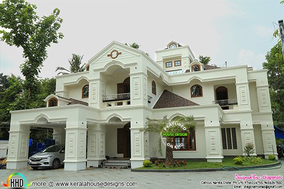 Luxury work finished Colonial home architecture