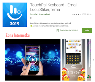 TouchPal Keyboard - Emoji Lucu,Stiker,Tema
