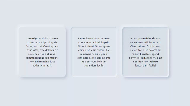 Simple Neumorphism CSS3 Cards