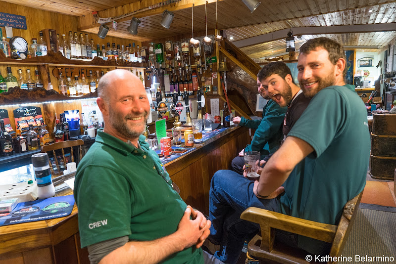 Caledonian Discovery Crew at Eagle Barge Inn Scottish Highlands Barge Cruise