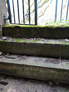 Steps leading out of shelter