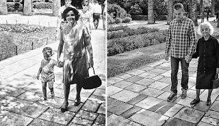 Tότε και τώρα…O όμορφος περίπατος στον κήπο με την μαμά
