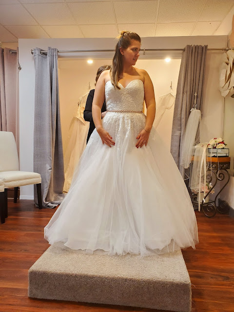 Beautiful poofy ballgown with a sweetheart neckline