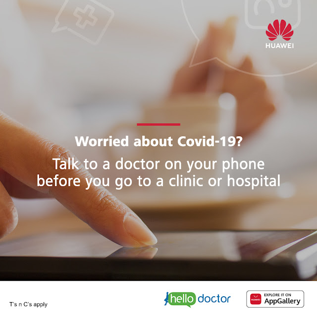 #HuaweiAppGallery Hello Doctor App - 1 Month Free Access @HuaweiZA Smartphones