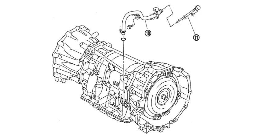 Nissan Navara D40 Automatic Transmission Oil Change