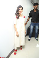 Samantha Ruth Prabhu Smiling Beauty in White Dress Launches VCare Clinic 15 June 2017 021.JPG