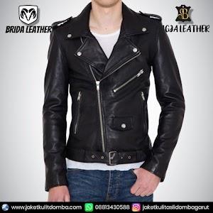 Jual Jaket Kulit Asli Garut Pria Domba Original Brida Leather B108 Ramones | WA 08813430588