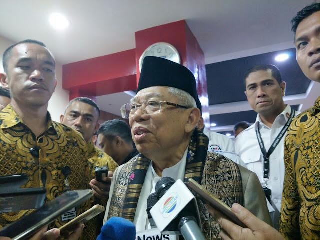 Ma'ruf Amin Sebut Jokowi Telah Membangun 'Tol Langit'