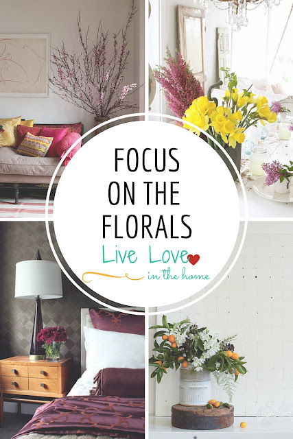 A collection of floral arrangements / home decor ideas and inspiration by Live Love in the Home