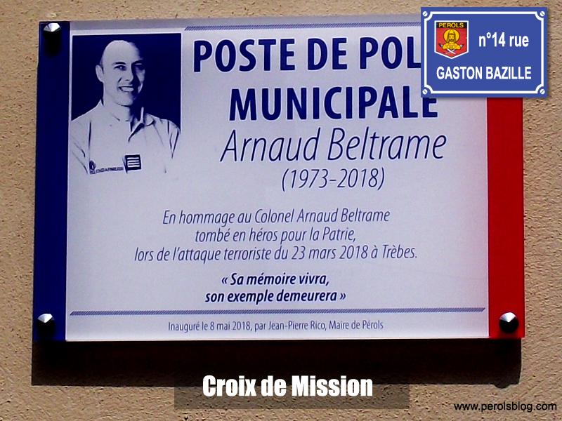 Hommage Arnaud Beltrame à Pérols