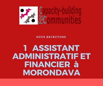 Recrutement: Un Assistant Administratif et Financier