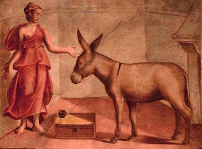 Από τοιχογραφία του 16ου αιώνα, με τον Χρυσό Γάιδαρο του Απουλήιου / Apuleius Golden Ass fresco