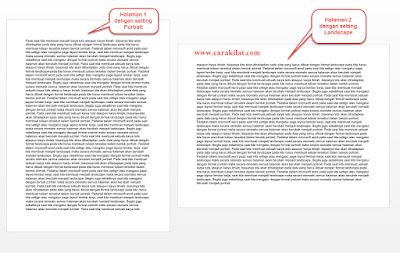 Cara Membuat Page Layout Landscape dan Portrait Dalam Satu File Word