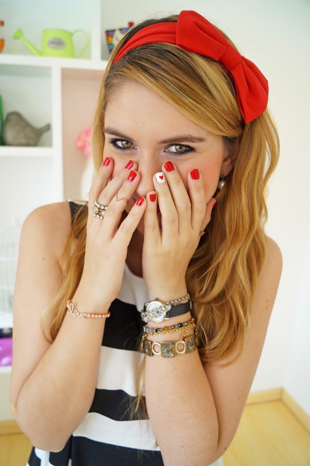 The Joy Of Fashion: {Vday}: Easy Valentine's Day Nails