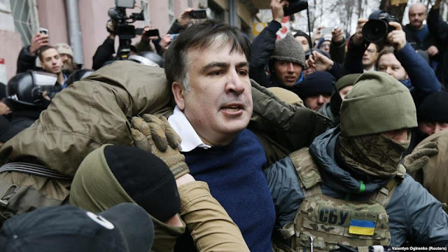 El expresidente georgiano Saakashvili, detenido en Kiev