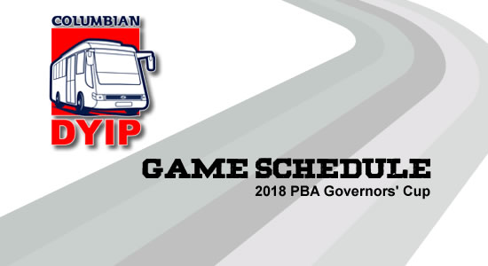 LIST: Columbian Dyip Game Schedule 2018 PBA Governors' Cup