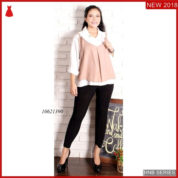 HNB079 Model Atasan Peplum Blouse Bigsize Modis BMG Shop