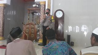 Jaga Harkamtibmas Pilkada, Kabag Ops Polres Pelabuhan Imbau Jamaah Masjid Mustakim