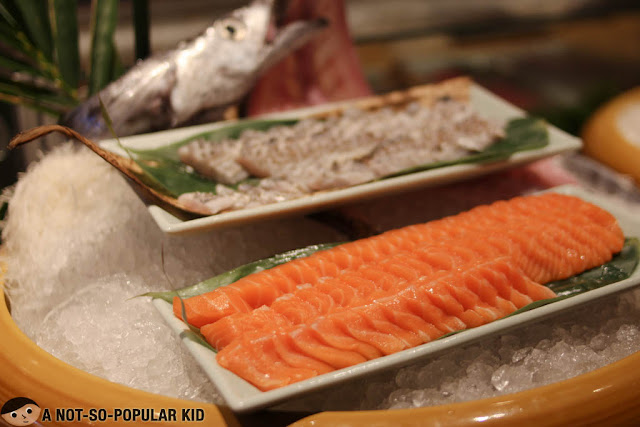 Fresh sashimi in Nobu Restaurant