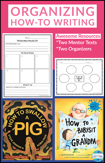 This post shares two great mentor texts and two free brainstorming forms for students to create their own how-to book.