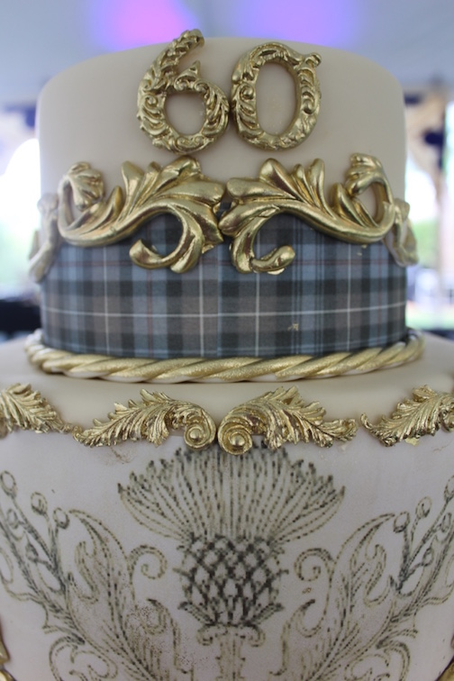 What Do You When The Client Asks For A Scottish Themed Cake That Incorporated Blue And Brown Plaid Thistles Posted By Sedona Couture