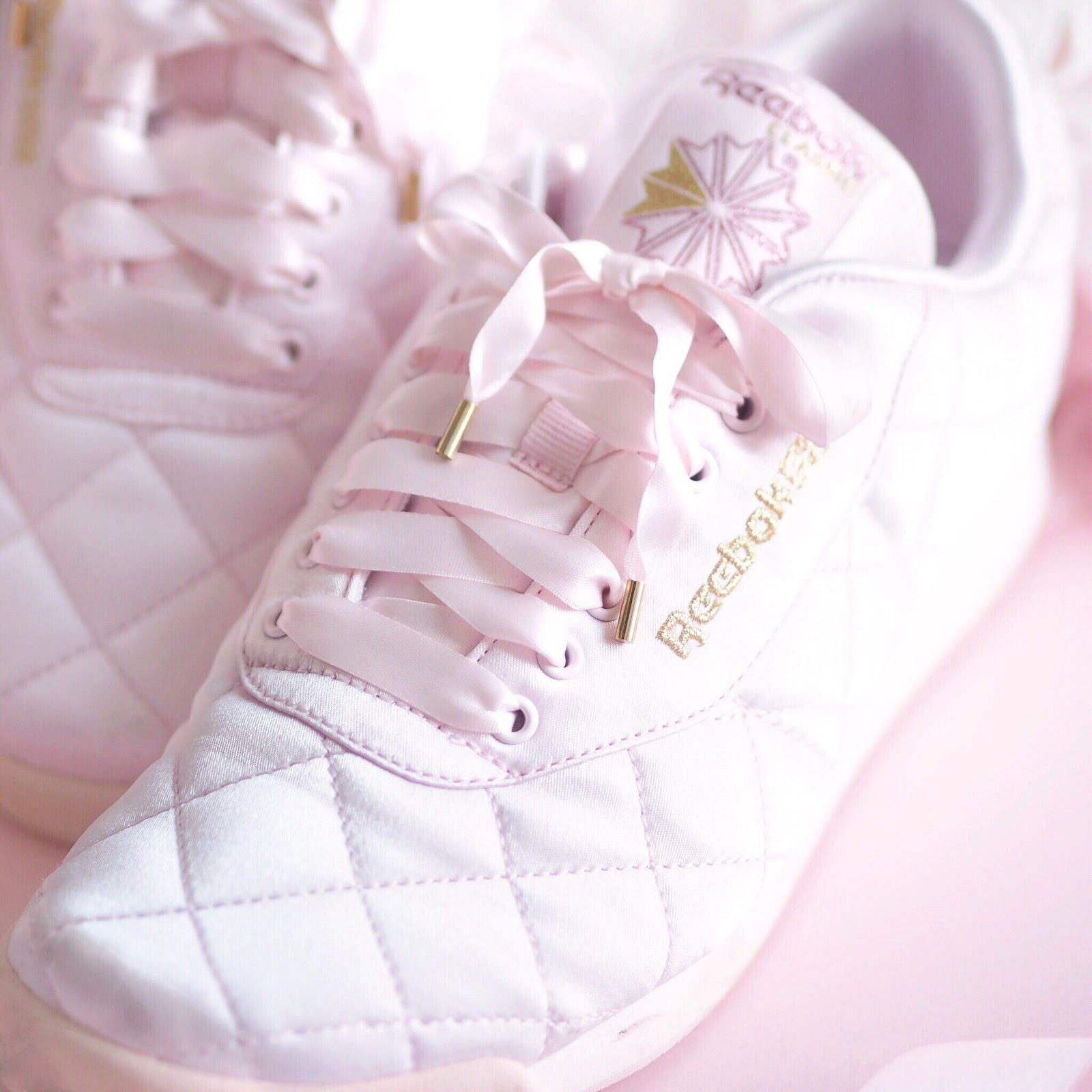 ASOS x Reebok Pink Satin Quilted Princess Trainers | What I Got Treated To On Christmas Day