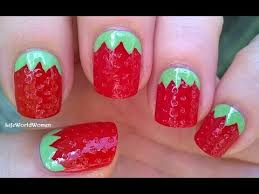 Nail Art of Strawberry