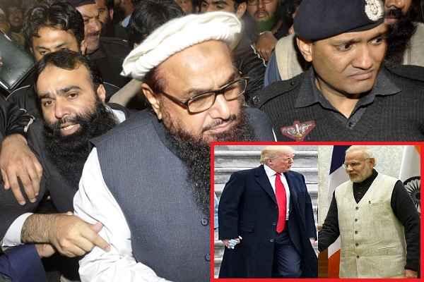 आतंकी हाफिज सईद की गिरफ्तारी के विरोध में पाकिस्तानियों ने जलाए MODI और TRUMP के पुतले