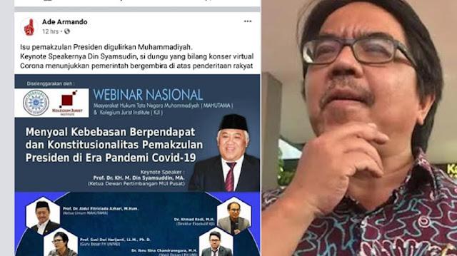 Ade Armando Hina Din Syamsuddin, Pemuda Muhammadiyah Bawa ke Jalur Hukum