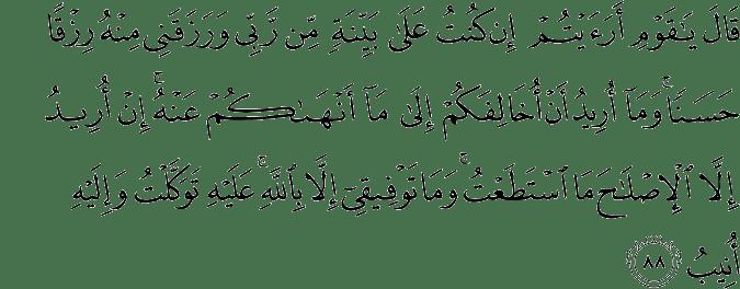 Surat Hud Ayat 88
