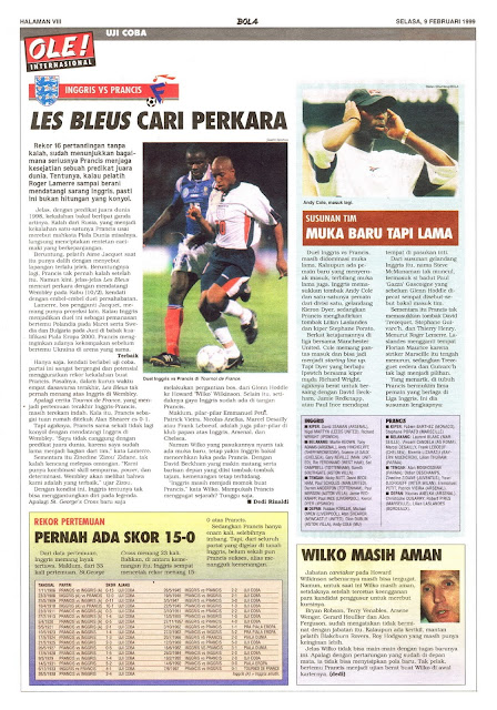 ENGLAND VS FRANCE LES BLEUS CARI PERKARA