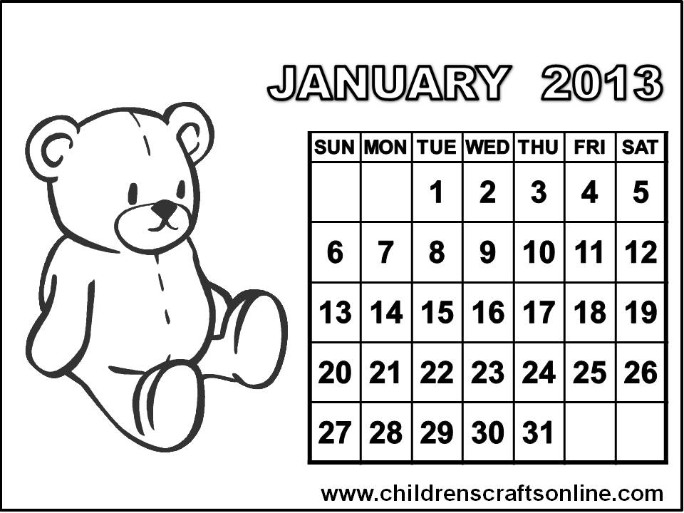 february 2015 calendar coloring pages